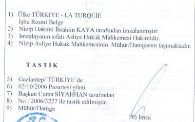 Как выглядит турецкий апостиль?